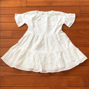 🎉HP🎉NWT Gymboree Girls White Eyelet Dress - M7/8